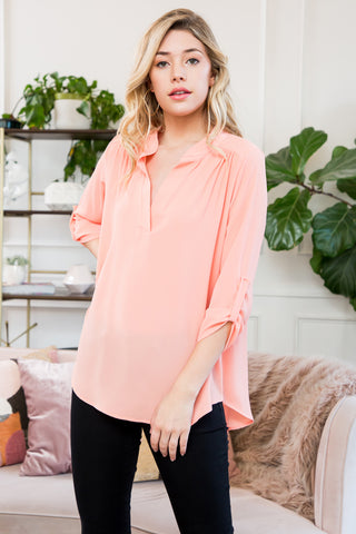 Short Sleeve Ruffle Hem Top