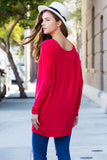 Solid Long Sleeved Oversized Tunic