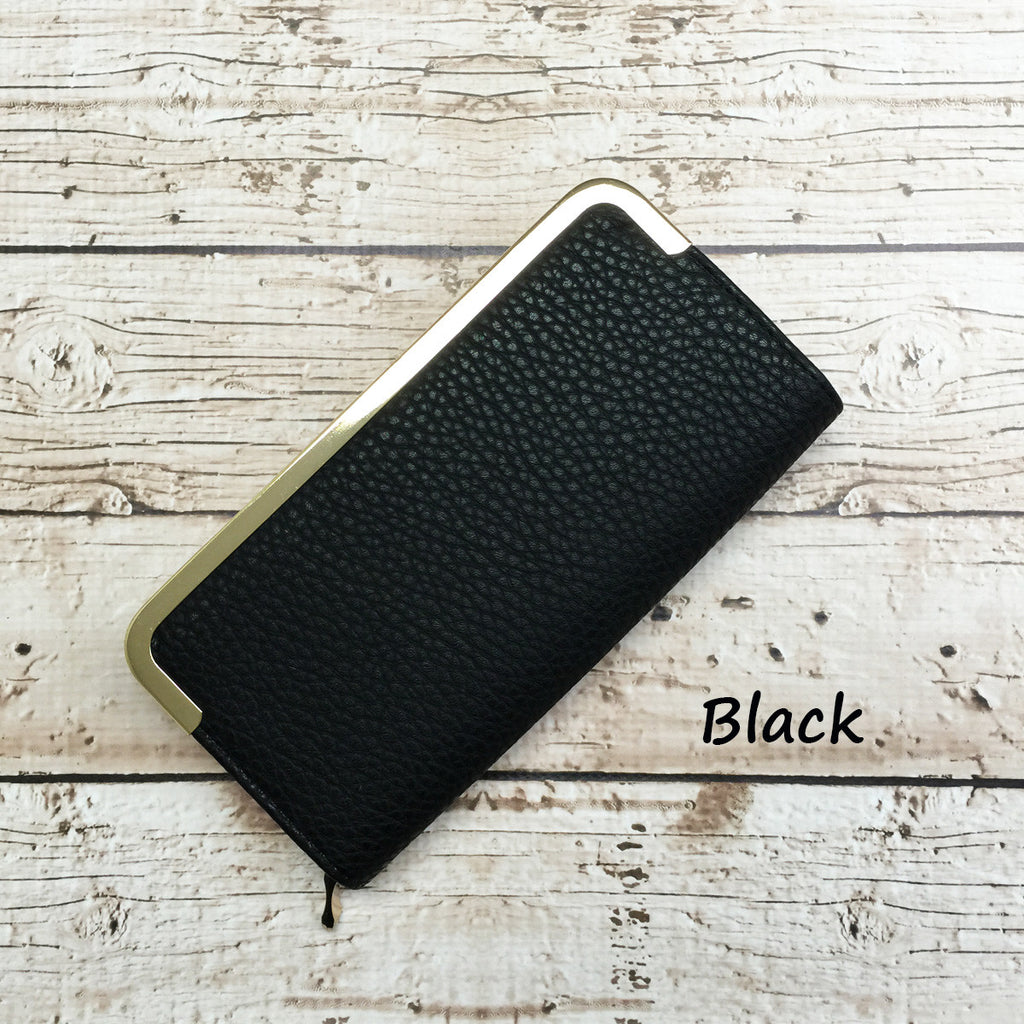 Vivian Glam Faux Leather Wallet | 5 Colors