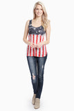 Two Tone U.S. Flag Tank Top