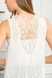 Crochet Tassel Sleeveless Open Cardigan