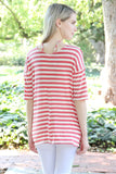 Striped Criss Cross Knot Tunic