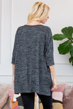 Two Tone Hacci Brush Pocket Tunic