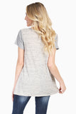 Contrast Short Sleeve Two Tone Swing Tee