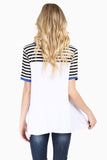 Striped Short Sleeve Swing Tee