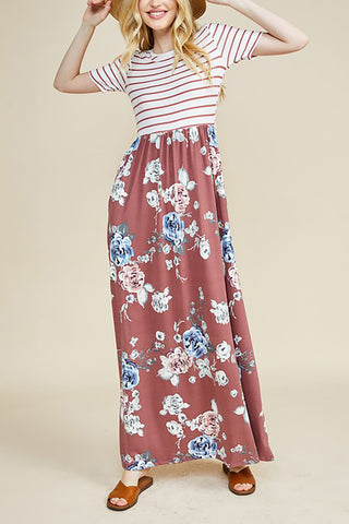 Hacci Floral Swing Pocket Dress