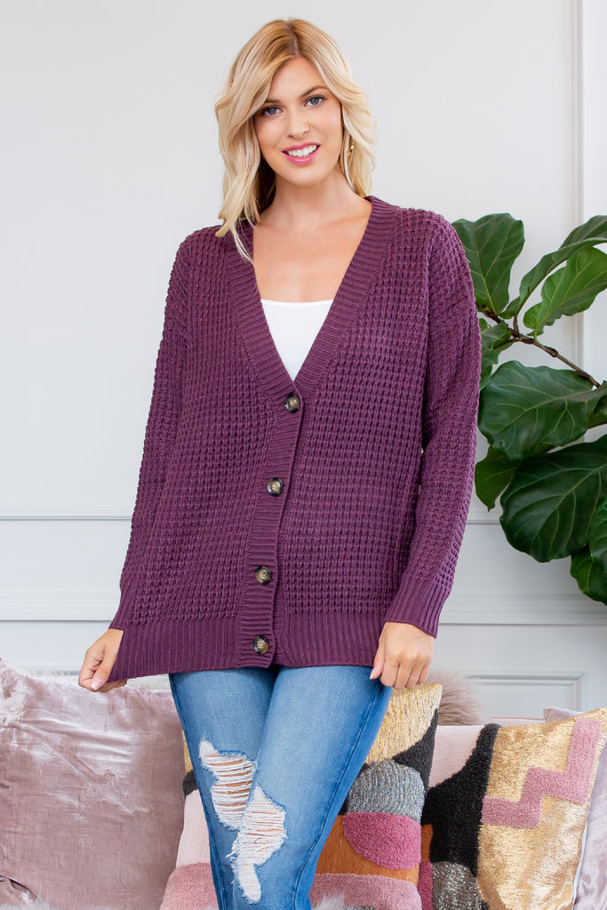 Button Down Cardigan Sweater