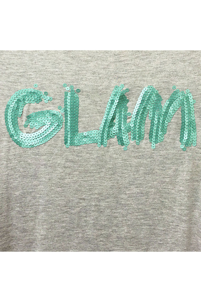 """Glam"" Sequin Print Tee"