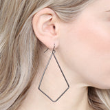 Wire Kite Shape Drop Earrings