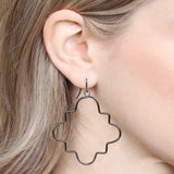 Wire Quatrefoil Hook Earrings