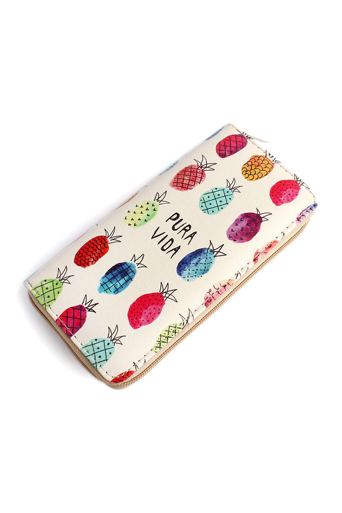 WT326X029 - PINEAPPLE PURA VIDA WALLET