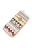Triangle Print Zipper Wallet