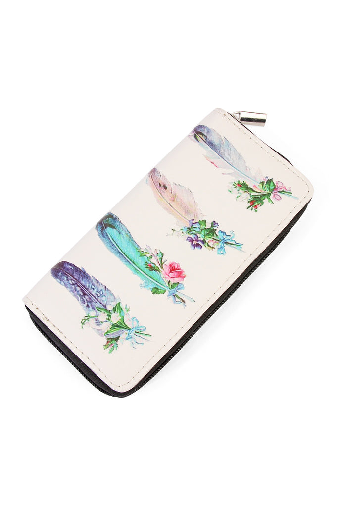 Pluma Print Zipper Wallet