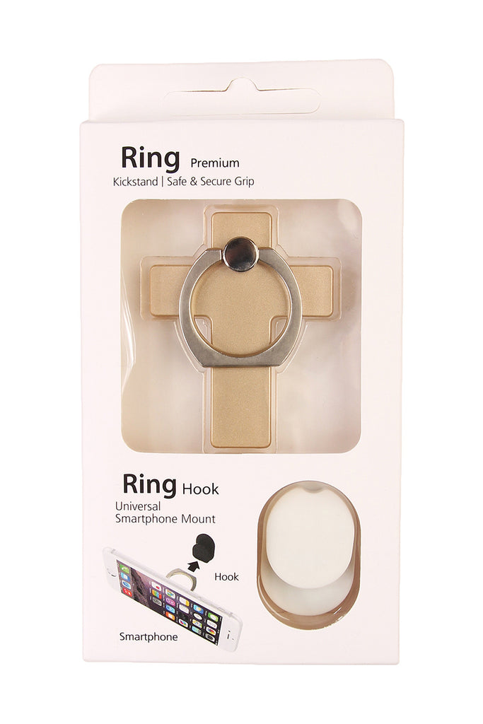 Cross Phone Ring Holder & Hook Set