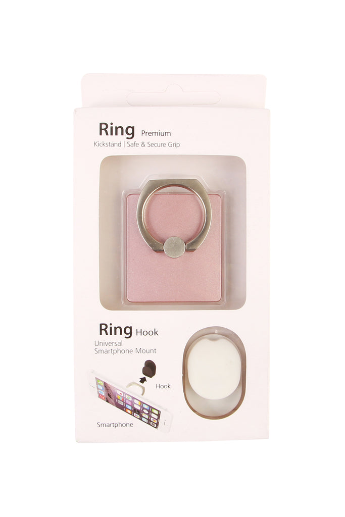 Matt Square Phone Ring Holder & Hook Set