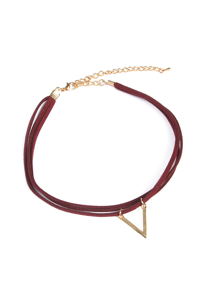 Triangle Pendant Choker Necklace