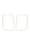 Wire Rectangle Hoop Earrings