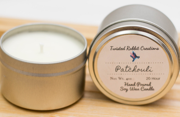 Patchouli Soy Candle Tin