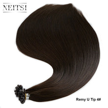 "Load image into Gallery viewer, Neitsi Straight Remy Human Fusion Keratin Hair Nail U Tip Pre Bonded Capsules Double Drawn Hair Extensions 16"" 20"" 24"" 28"""