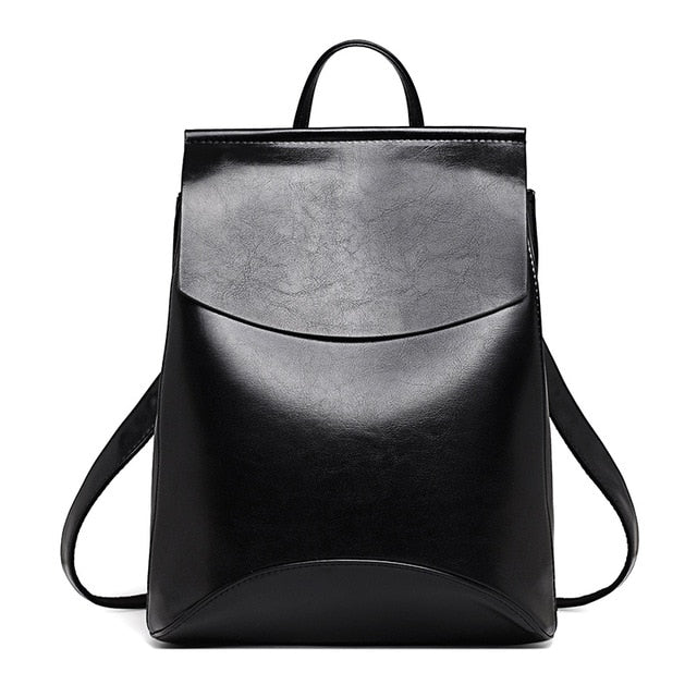 School Leather Backpack Zocilor