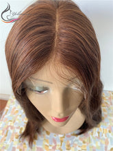 Load image into Gallery viewer, High Density 100% European Virgin Hair Lace Top Jewish Wig Kosher Wig Lace Top Wigs With Baby Hair