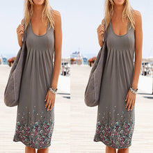 Load image into Gallery viewer, Sleeveless Floral Print Loose Beach Summer Dress Fashion Six Colors Casual Women Dress 2021 Sexy Dress  Size S-5XL