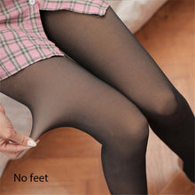 Load image into Gallery viewer, SVOKOR Sexy Warm Leggings Women Slim Fit High Waist Push Up Winter Leggings Mesh Leggins Female Clothes Flesh-Colored