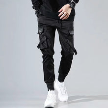 Load image into Gallery viewer, Ribbons Harem Joggers Men Cargo Pants Streetwear 2021 Hip Hop Casual Pockets Track Pants Male Harajuku Fashion Trousers