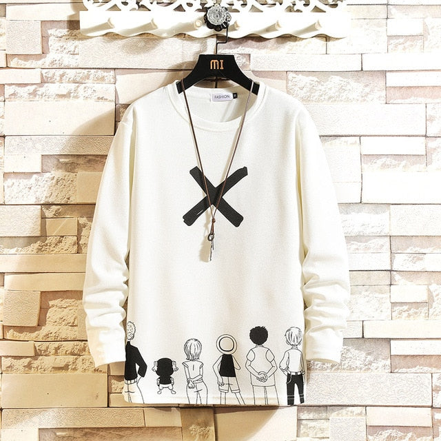 Autumn Spring Black White T-shirt Top Tees 2021 Style