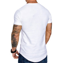 Load image into Gallery viewer, New Men's T-shirt 2021 Slim Fit O-neck Short Sleeve