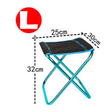 Load image into Gallery viewer, Folding Camping Chair Lightweight Picnic, BBQ Fishing Chair Foldable Aluminium Cloth Outdoor Portable Beach Chair Outdoor Furniture