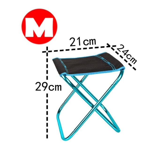 Folding Camping Chair Lightweight Picnic, BBQ Fishing Chair Foldable Aluminium Cloth Outdoor Portable Beach Chair Outdoor Furniture