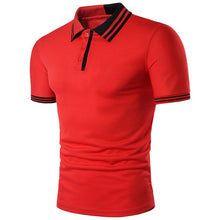 Load image into Gallery viewer, KB Men Polo Men Shirt Short Sleeve Polo Shirt Contrast Color Polo