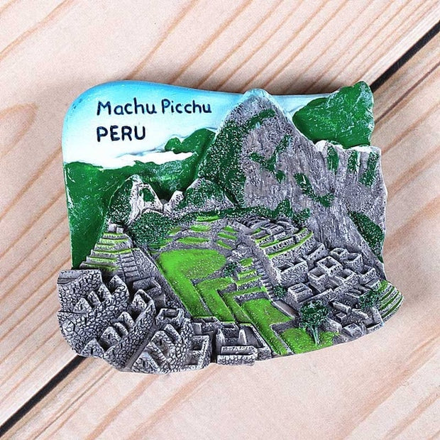 Foreign refrigerator sticker United States USA New York Peru Canada venezuela Brazil Mexico fridge magnets world collection gift