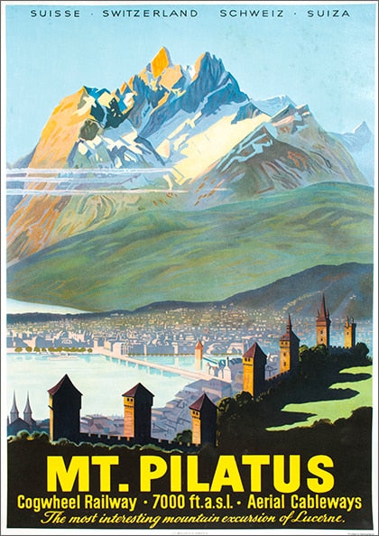 Lausanne Lucerne Switzerland Travel Canvas Paintings Vintage Picture Kraft Poster Coated Wall Stickers Home Decoration Gift