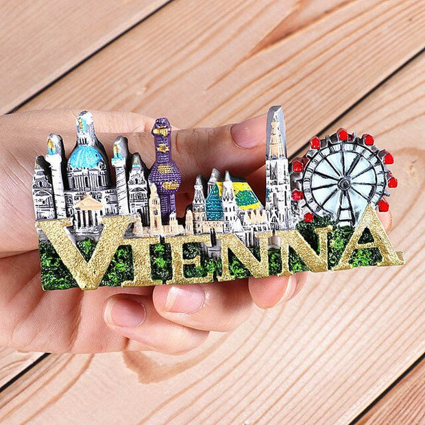 Souvenirs for Overseas Tourism Fridge Italy Switzerland Chile Austria Vienna foreign world tourism collection fridge magnet gift