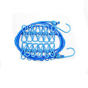 Portable Outdoor Clothesline Easy to Take Hanging Rope Windbreak Non-slip Clotheslin With 12 Clothespins Clothes Dryer
