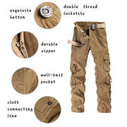 Men's practical trousers with multiple pockets