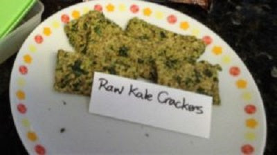 Cheezy Kale Almond Crackers
