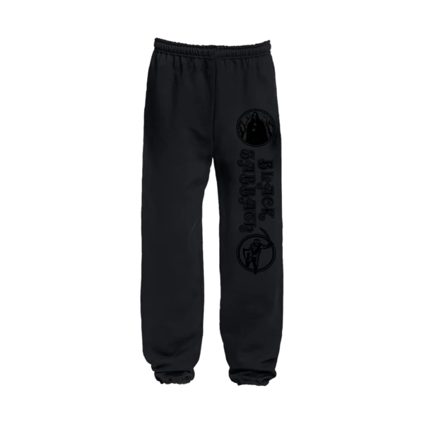 BLACK ON BLACK SWEATPANTS