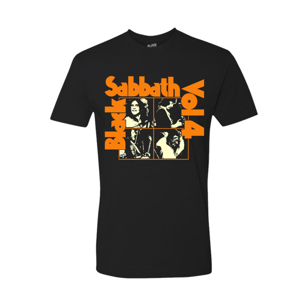 BLACK SABBATH VOL 4 BLACK T-SHIRT