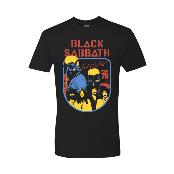 NEVER SAY DIE 40TH BLACK T-SHIRT