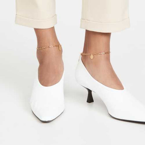 anklets with kitten heels