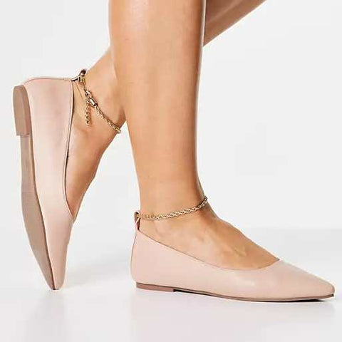 anklets with ballet foldable shoes
