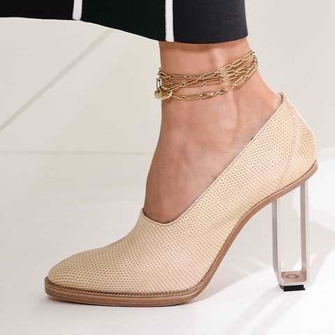 Anklets with nude pumps