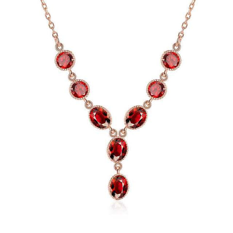 Red Lariat Necklace