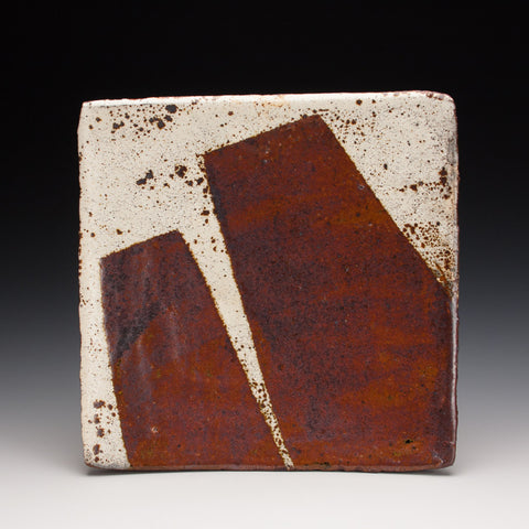 Iron and White Square Plate