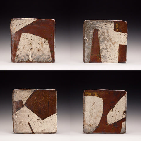 Set of Four Square Plates