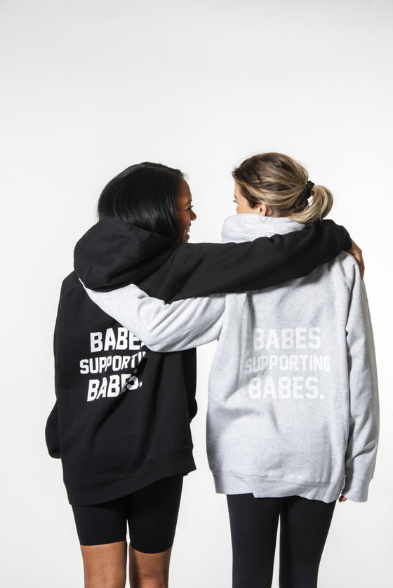 "Brunette The Label BELLE x ""BABES SUPPORTING BABES"" Big Sister Hoodie 