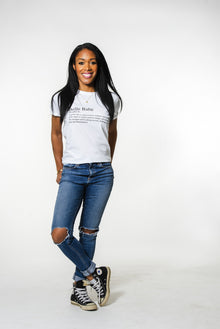 """DEFINITION OF A BELLE"" Classic Crew Neck Tee"